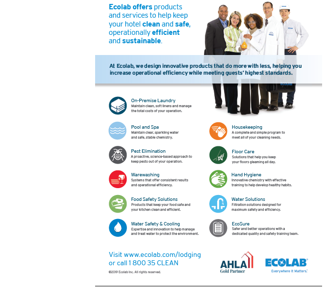 Ecolab hospitality categories