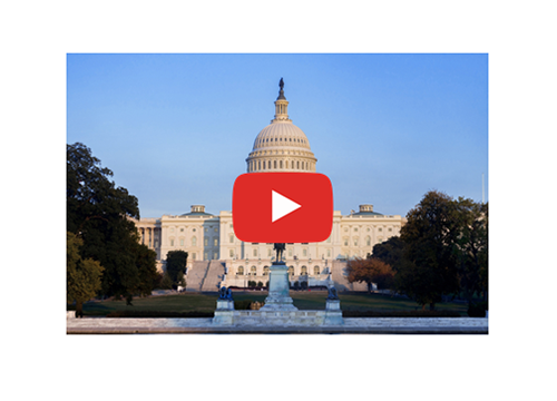 Capitol with play button