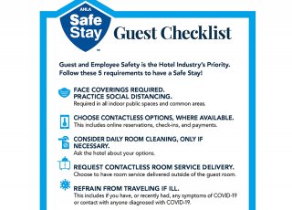 Safe Stay Guest Checklist