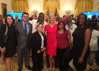 Katherine Lugar and White House attendees